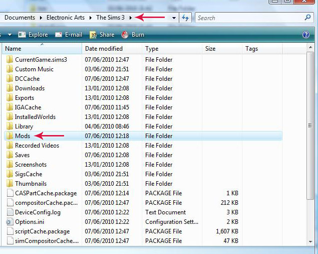 pasta gamedata do the sims 3