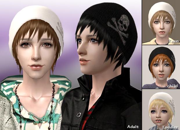 Mod The Sims Wcif Raonjena Male Hair Free 27