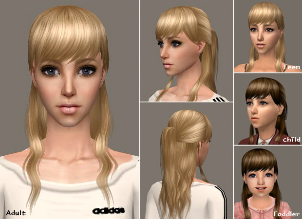 Mod The Sims Fileraonsimsffreehair10jpg