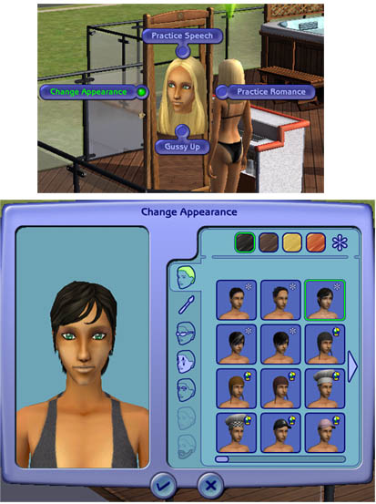 Your sim will walk to the mirror, and you'll get a window that will allow ...