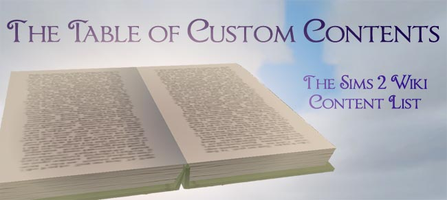 The Table of Custom Contents