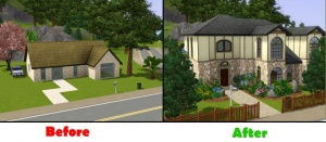 The sims 3 pets house building
