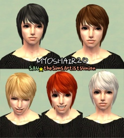 Hair Gallery/Male Hair Free Only - SimsWiki